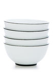 Stack of bowls isolated. On the white Royalty Free Stock Images