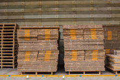 Stack of box, waiting for delivery in a warehouse Royalty Free Stock Photo