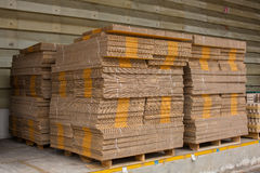 Stack of box, waiting for delivery in a warehouse Stock Photo