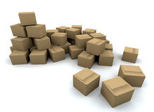 Stack of boxes Stock Images