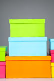 Stack of boxes Stock Image
