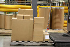 Stack of Boxes Ready for Shipment. From a Warehouse Stock Photo