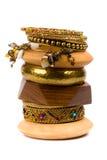 Stack of bracelets Royalty Free Stock Photos