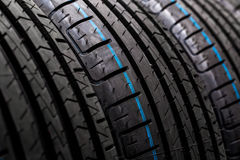 Stack of brand new high performance car tires Stock Photography