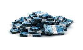 Stack of Brazilian Real Stock Image