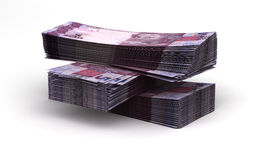 Stack of Brazilian Real Stock Photography