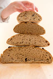 Stack of bread Royalty Free Stock Photography