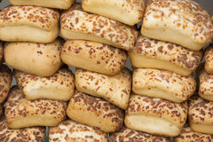 Stack of bread on the street market in Bogota, Colombia Stock Image