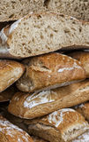 Stack of Breads. Close-up image of a stack of fresh French campaign breads Royalty Free Stock Images