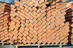 Stack of brick Stock Photo