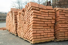 Stack of brick Royalty Free Stock Photos