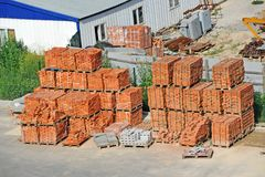 Stack of brick Royalty Free Stock Photography