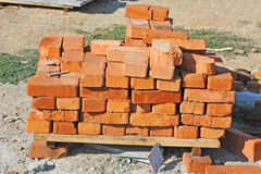 Stack of brick Royalty Free Stock Photos