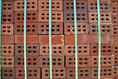 Stack of bricks. In manufacturing brickyard Stock Images