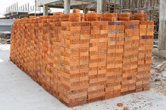 A stack of bricks Royalty Free Stock Photo