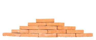 Stack of bricks isolated on white background Stock Image