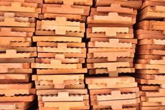 Stack of brickwork Stock Photography