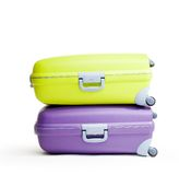 Stack of briefcases Royalty Free Stock Photos