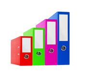 Stack of bright color office folders Royalty Free Stock Images