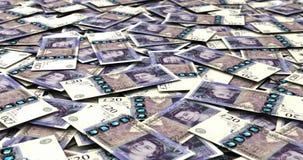 Stack of British Pound stock video