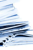 Stack of brochures and magazines Royalty Free Stock Image
