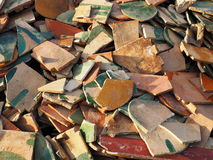 Stack of broken tiles Stock Photography
