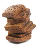 Stack of Brown bread Slices Royalty Free Stock Photography