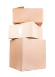 Stack of brown card box Royalty Free Stock Photo