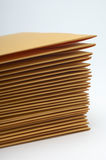 Stack Of Brown Envelopes Stock Image