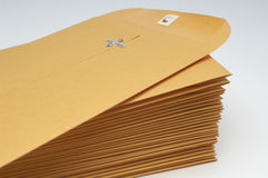 Stack Of Brown Envelopes Royalty Free Stock Photography