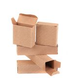 Stack of brown gift boxes. Stock Image