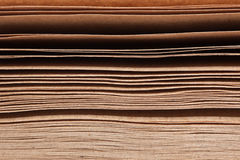 Stack of brown papers Stock Photography