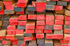 Stack of Building Lumber Royalty Free Stock Photos