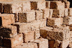 Stack of building materials Royalty Free Stock Photos