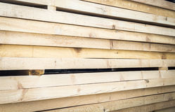 Stack building planks Royalty Free Stock Image