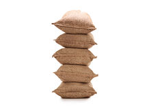 Stack of burlap sacks Royalty Free Stock Photography