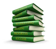 Stack of business books (clipping path included) Royalty Free Stock Images