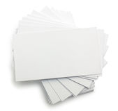 Stack of business cards Royalty Free Stock Photos