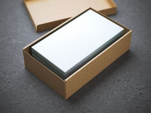 Stack of business cards in package Royalty Free Stock Photography