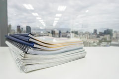 Stack of business folder and documents for audit Royalty Free Stock Photo