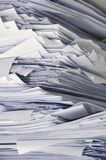 Stack of business papers royalty free stock photo
