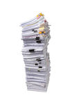 Stack of business papers isolated Stock Photo