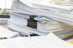 Stack of business papers Stock Photography