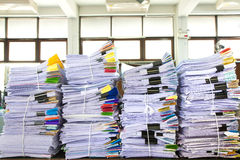 Stack of business papers. Report paper Stock Image