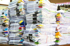 Stack of business papers. Report paper Stock Photography
