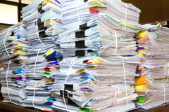 Stack of business papers. Report paper Royalty Free Stock Photography