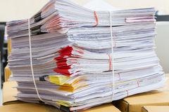 Stack of business papers Stock Images