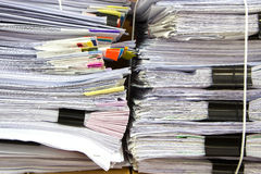 Stack of business papers. Report paper Stock Photos