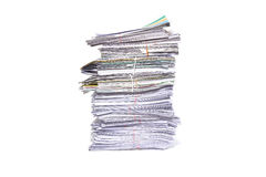 Stack of business papers  on white Stock Photography