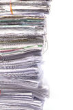 Stack of business papers  on white Stock Photo